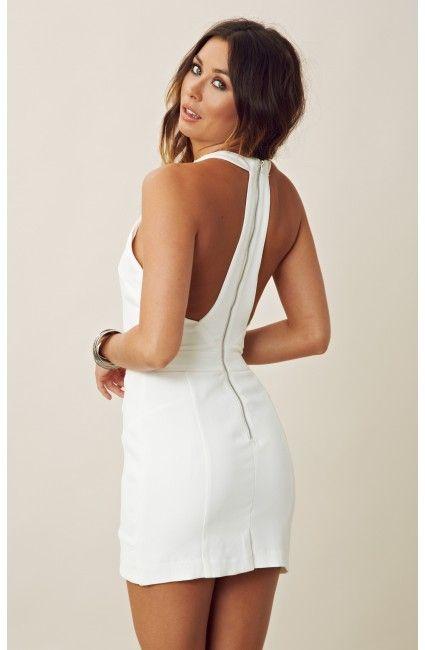 Line & Dot Halter Mini Dress