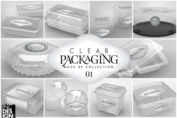 01 Clear Container Packaging Mockups Business Card Mock Up