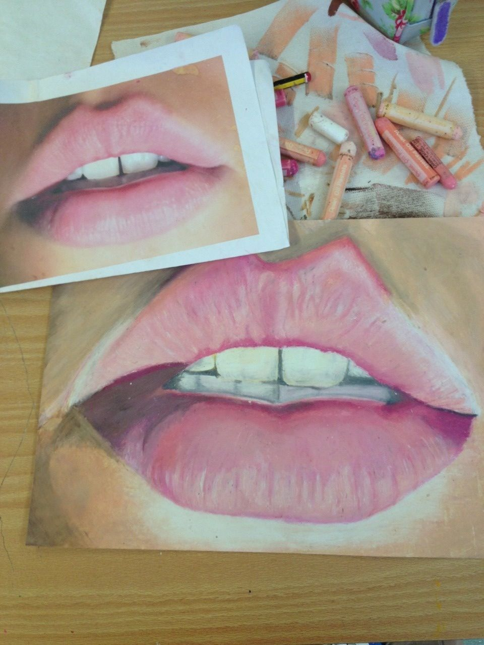 Oil pastels can make drawings look so realistic and alive when
