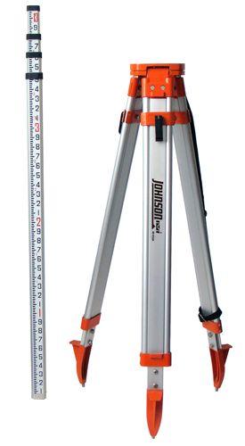 Johnson Level 40-6350 Universal Tripod/Grade Rod Kit