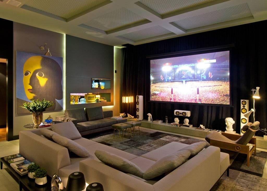 Cine en casa como en el cine pinterest sof - Sala cine en casa ...
