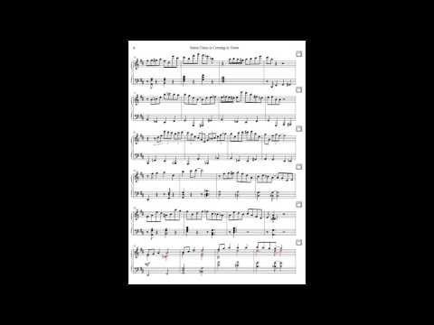 piano sheet music jazz arrangement of christmas song santa claus is coming to town - Santa Sheets