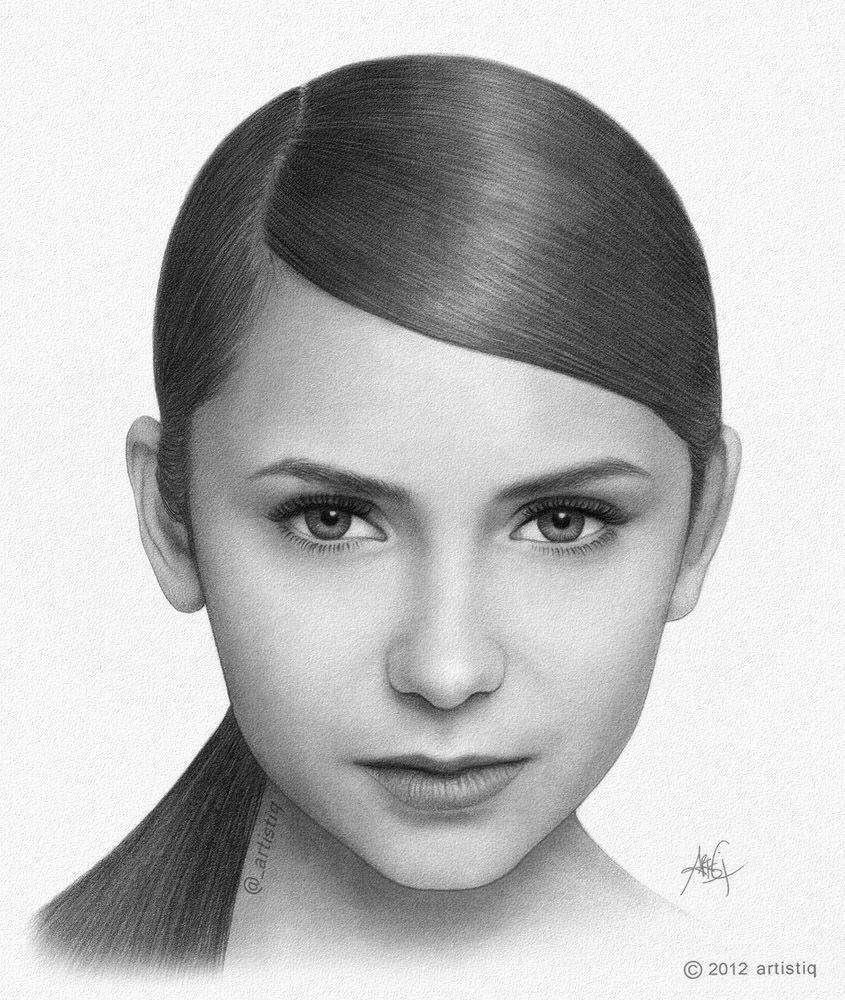 Nina dobrev by artistiq me deviantart com
