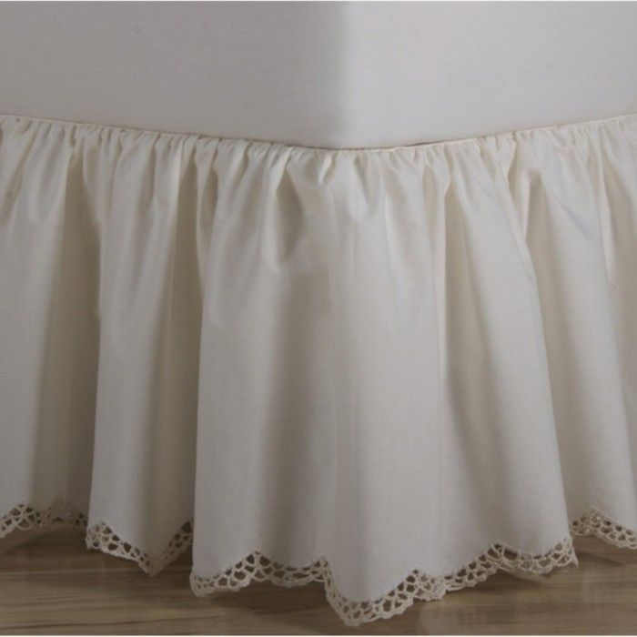Harmony Lane Eyelet Ruffled Bed Skirt Available in all Sizes with Platform