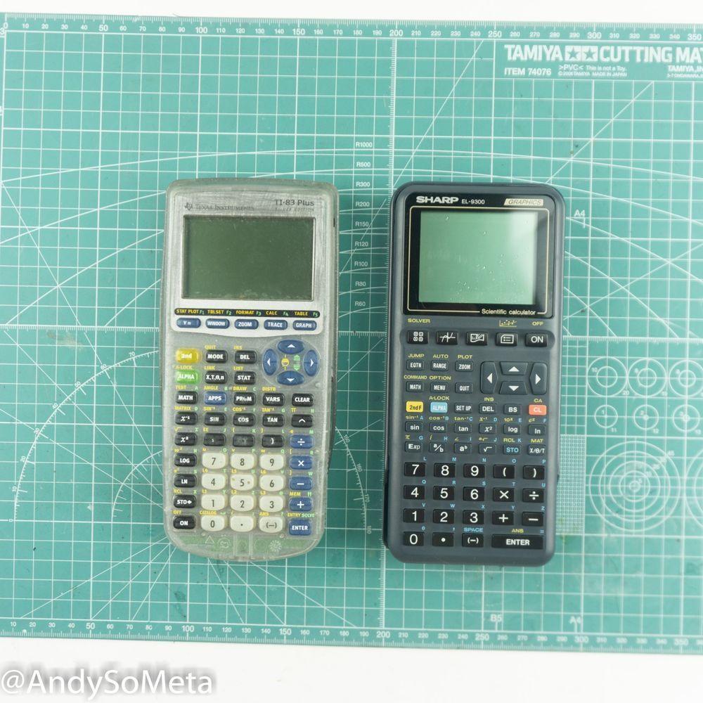 Texas Instruments TI83 Plus & Sharp EL9300 Graphing