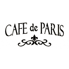 French Cafe Stencil French Art French Vintage Stencil Cafe de Paris Stencil