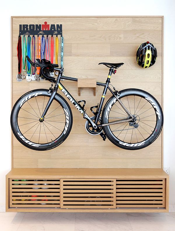 Arc@Draycott - Bicycle Wall and shoe cabinet