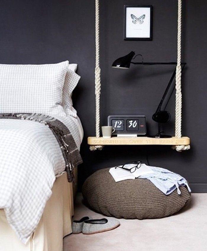 ÉTAGÈRE Suspendue  33 idées et tuto pour la fabriquer Bedrooms