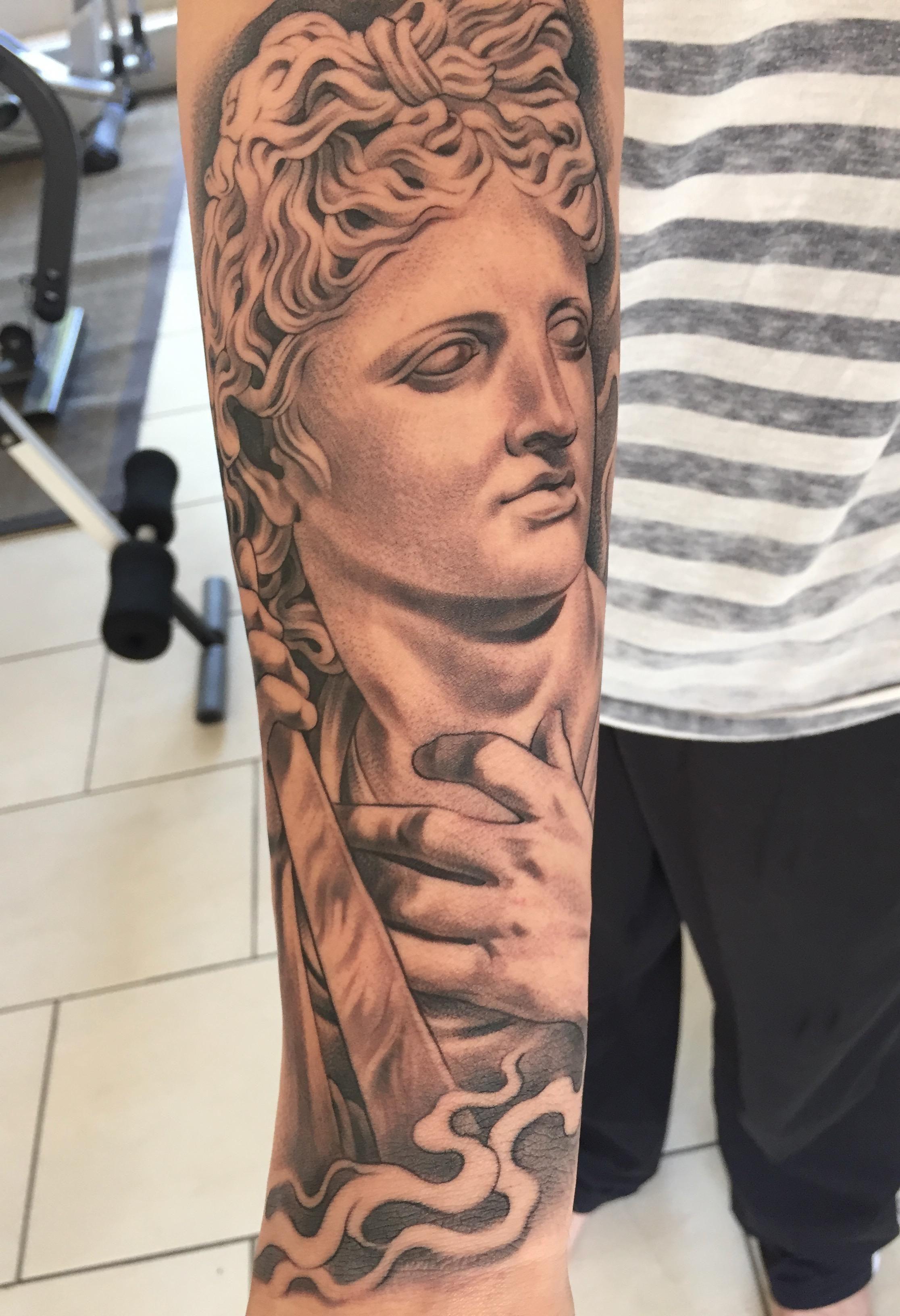 My Apollo Tattoo By Noah Minuskin La Hous Studios The