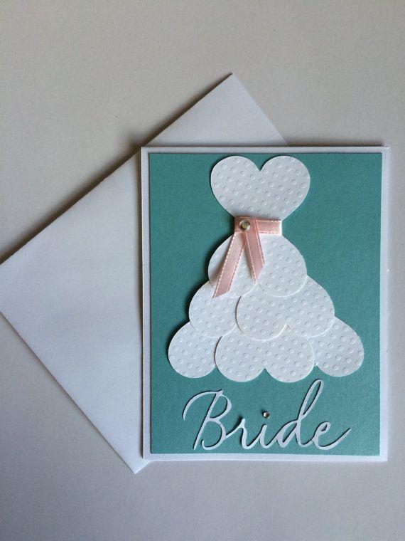 Bridal shower card Wedding shower card bridal gown bride