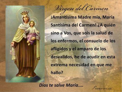 Mis Propósitos Mes De La Virgen Del Carmen Frases Con