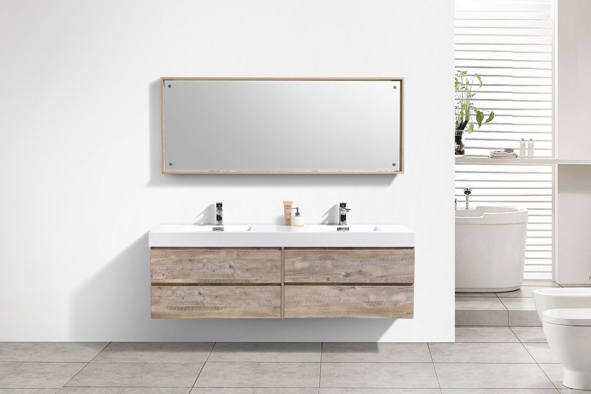 Tenafly 72 Wall Mount Double Bathroom Vanity Set Modern Bathroom