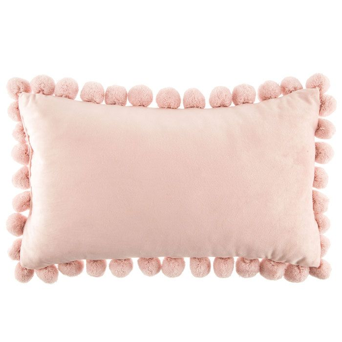 get light pink pillow with pom poms online or find other pillows u0026 covers products from