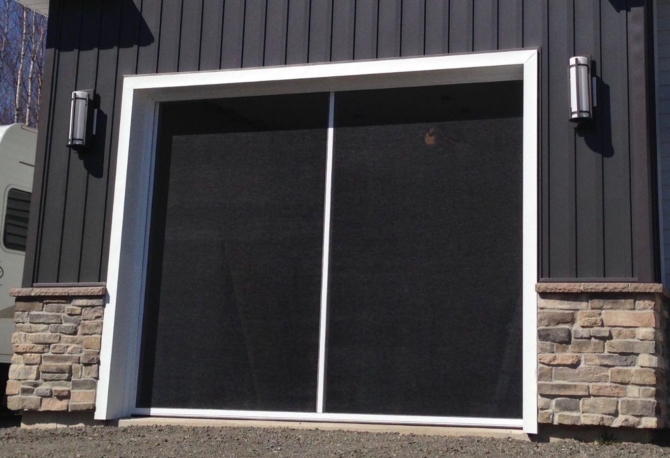 Mosquitozz Is The Name Given To Its Retractable Garage Screen Door