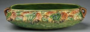 Roseville Pottery Identification and Price Guide: Roseville Blackberry Console Bowl