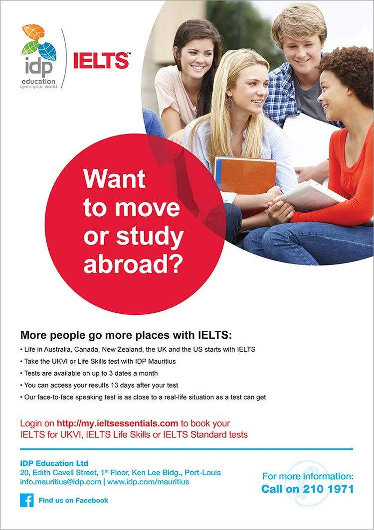 IDP Education Ltd - Book your IELTS Test with IDP Mauritius  Tel