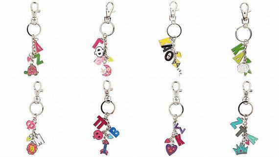 Sorority Mascot Charm Keychain Choose Your by PreppyPinkies