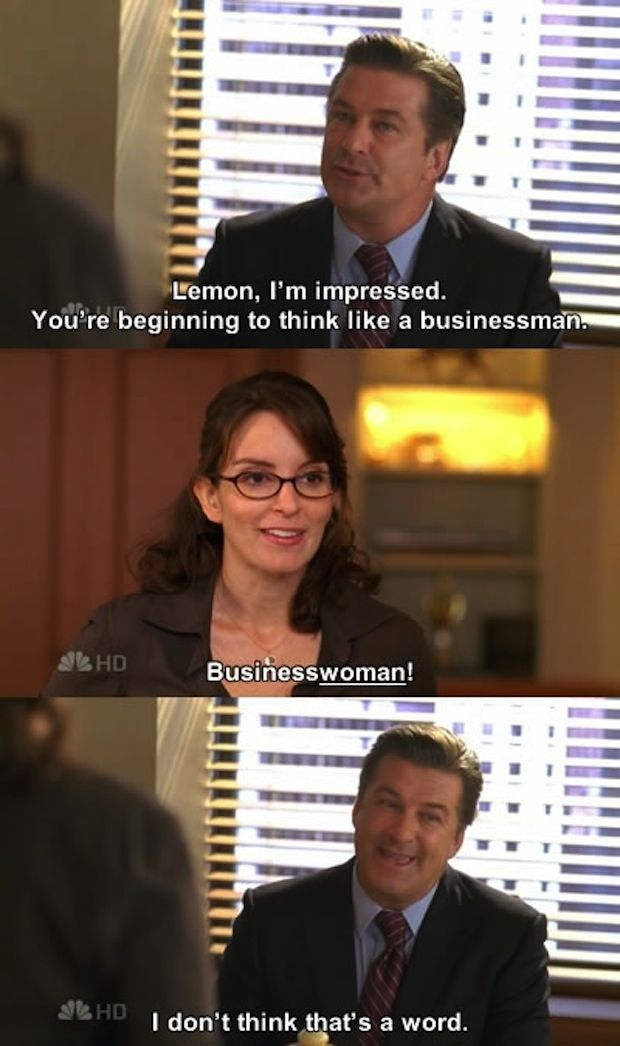 Businesswoman Is A Word 30 Rock Quotes 30 Rock Funny Pictures