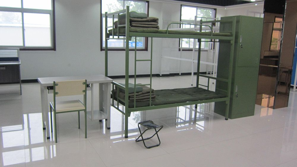 Military Style Iron Pipe Tube Metal Frame Bunk Bed