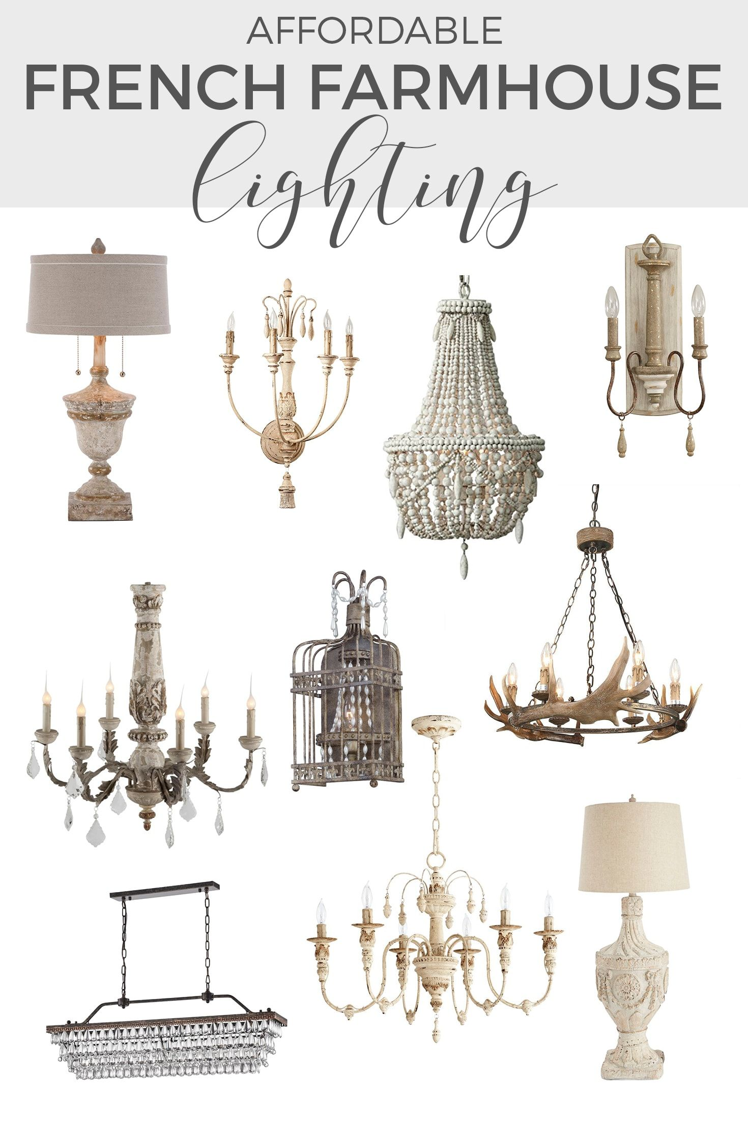 affordable french farmhouse lighting