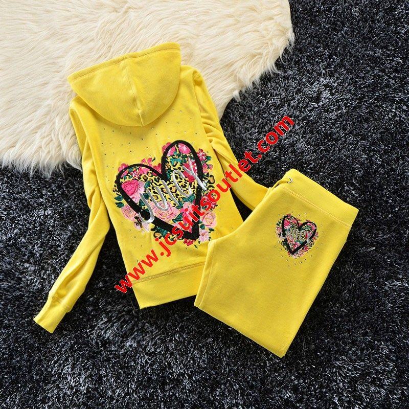 Https Www Jcsuitsoutlet Com Juicy Couture Studded Love Flowers Logo Crown Velour Tracksuit 6131 2pcs Women Suits Yell With Images Juicy Couture Suits For Women Tracksuit