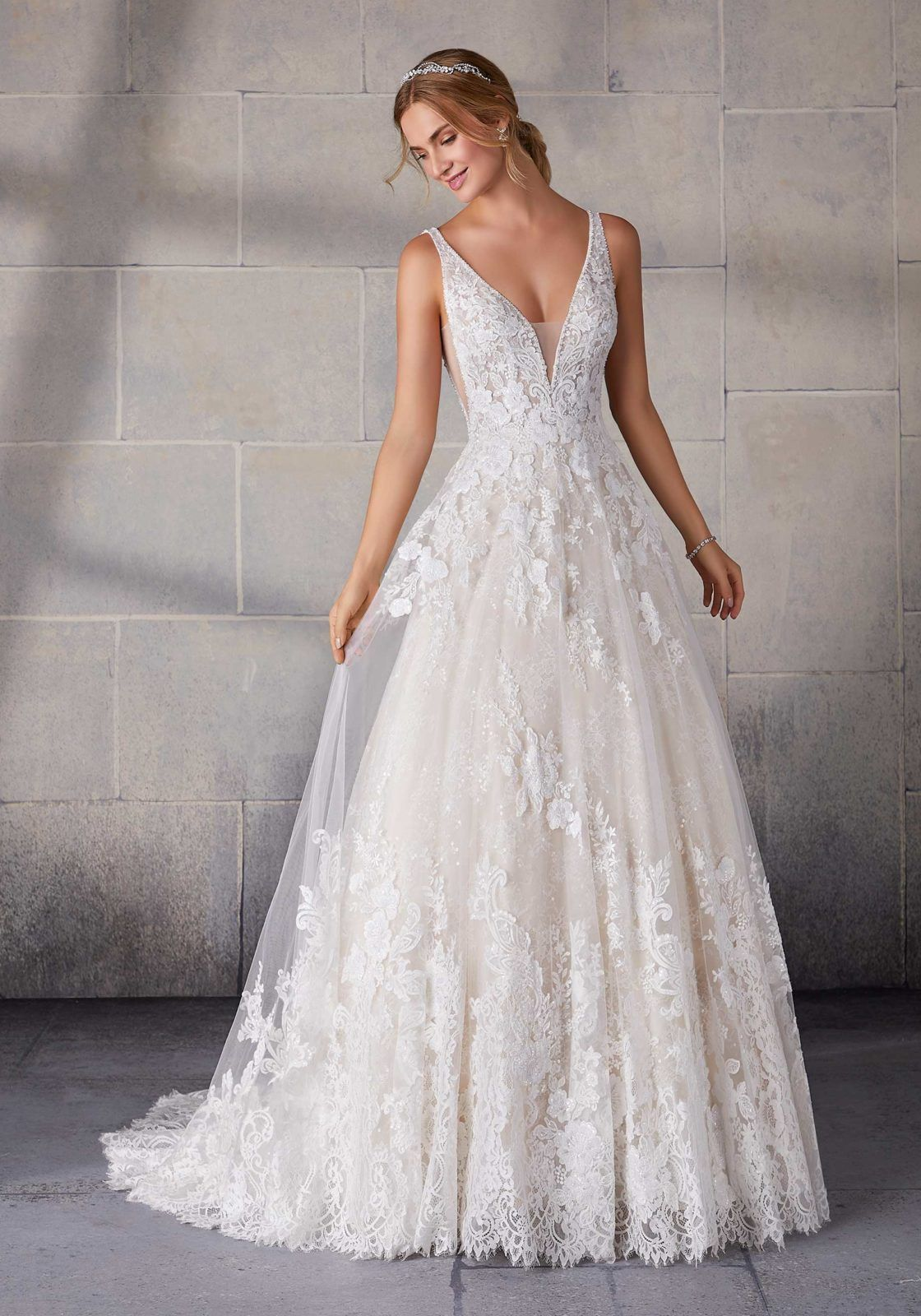 Suzanne Wedding Dress By Morilee Available At The Bridal Shoppe In St Louis Mo Www Bridalshoppeinc In 2020 Ball Gowns Wedding Wedding Dresses Lace Wedding Gowns Lace