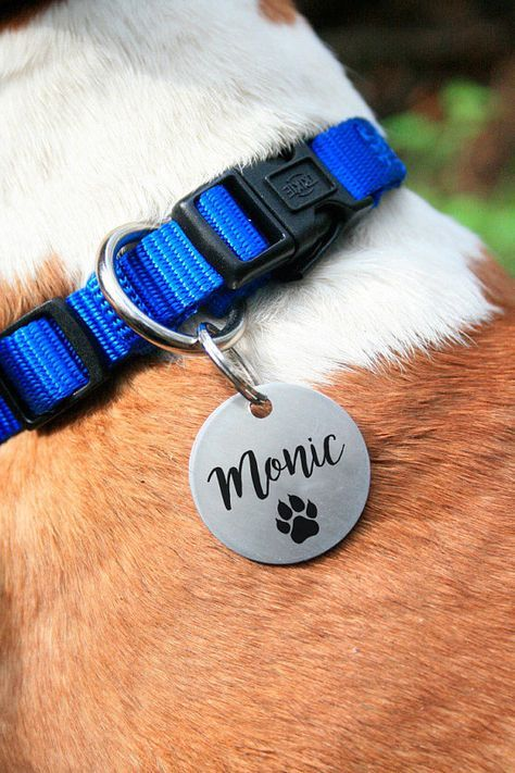 round flover Dog Tag, Customized Pet ID Tag Name Tags, custom two-sides tag, dog tag, id tag for dogs, id tag for cat, dog lover gift, dog collar, Customized Pet ID Tag, dog collar, id tag design, id tag diy, keep calm and call my mom
