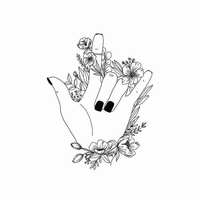 Vertebrate Visualarts Flower In Black And White Department White Line Artwork Illust In 2020 Shaka Tattoo Drawings Sketch Book