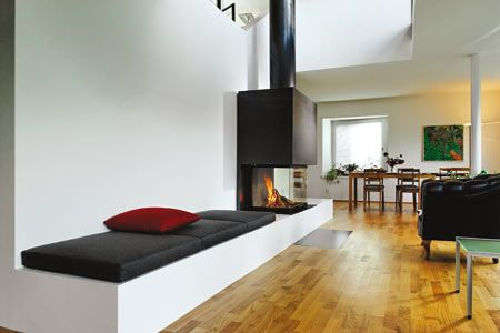 sitzbank an kamin fireplaces pinterest durchblick kaminofen und sitzbank. Black Bedroom Furniture Sets. Home Design Ideas