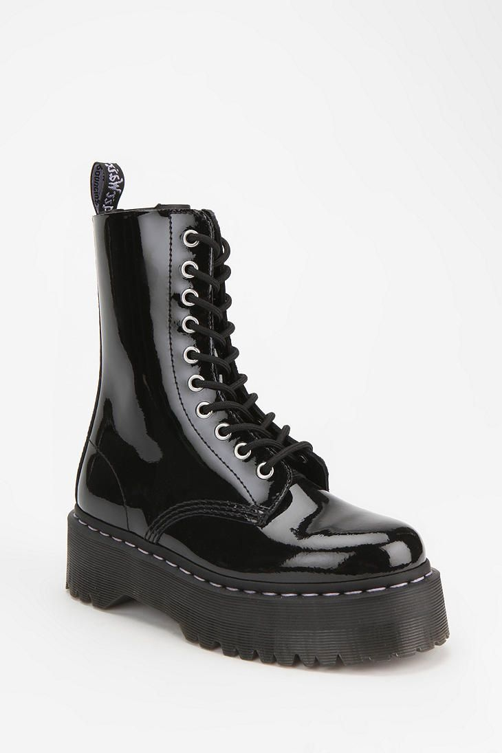 Black platform boots from Agyness Deyn For Dr. Martens (Style: Aggy 1490)