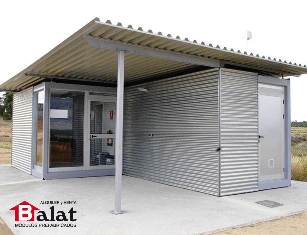 Caseta prefabricada para parque solar rada navarra for Casetas prefabricadas pequenas