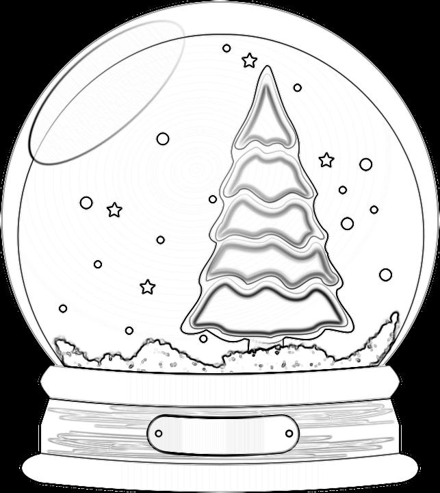 Schneekugel-Malvorlage.png (643×720) | Christmas coloring | Pinterest