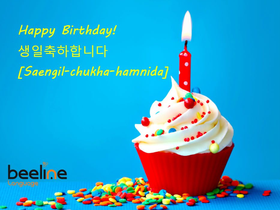 learn how to say happy birthday in korean happy birthday cupcakes