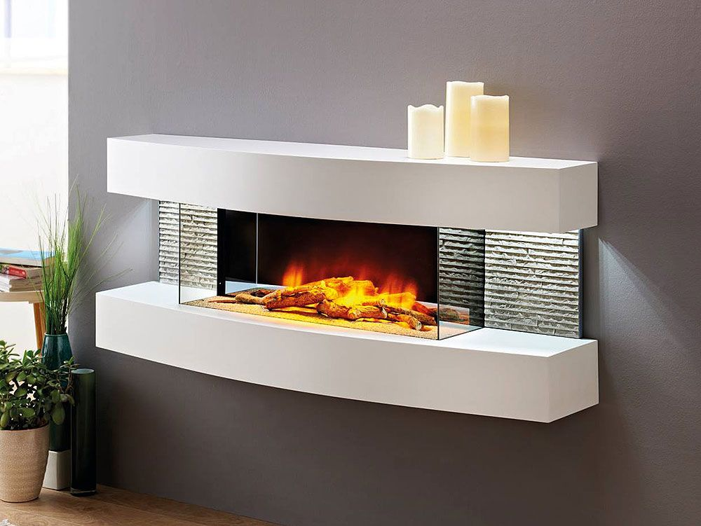 Evolution Fires Miami Curve Wall Electric Fireplace In White Fwmcw Evolution Fires Wall Mount Electric Fireplace Modern Electric Fireplace Electric Fireplace Wall