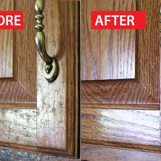 Cleaning Kitchen Cabinets Aid Water Filter How To Clean Grease From Cabinet Doors Away The Grime Wood