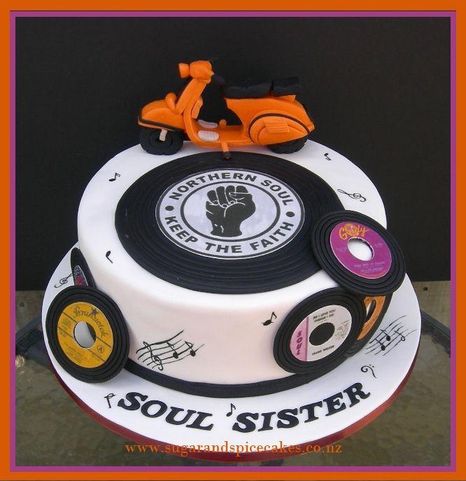 Northern Soul Vespa cake Designer cakes cupcakes and sugarcraft