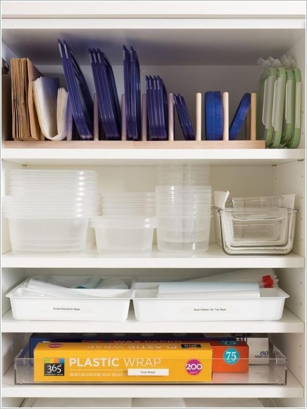 Bon Easy Tupperware Storage Ideas   Organization Plastic Containers Ideas Glass  Kitchen DIY Solutions Hacks Cabinets Drawer Lazy Susan Pantry Products Food  ...