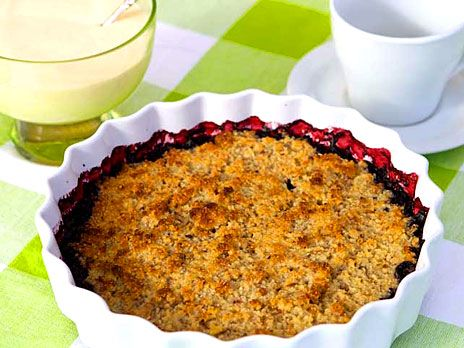 Glutenfri smulpaj med blåbär