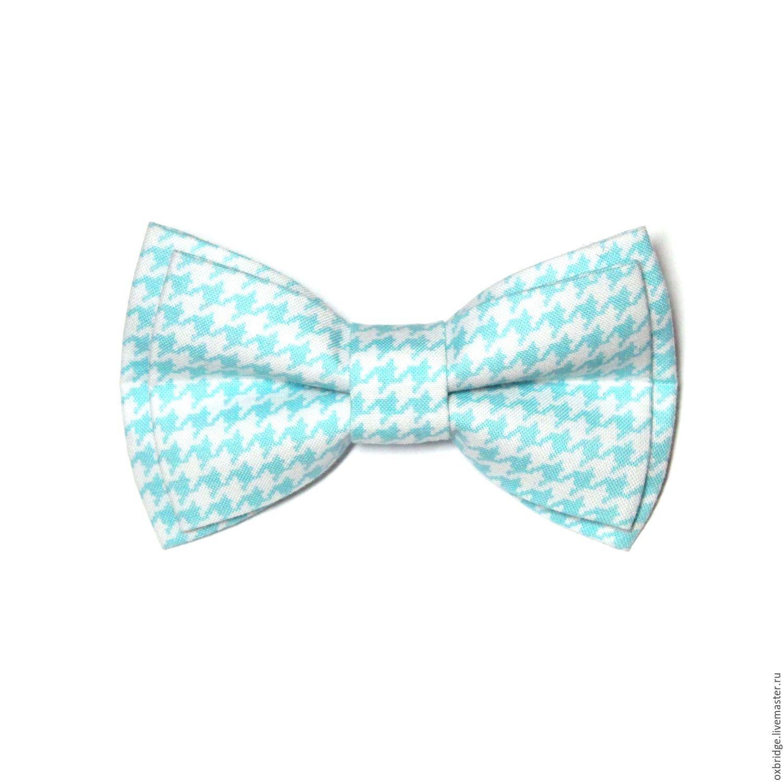 f3fbb6fc5b56 Купить Галстук бабочка Гусиная лапка мятного цвета / Бабочка галстук мятный