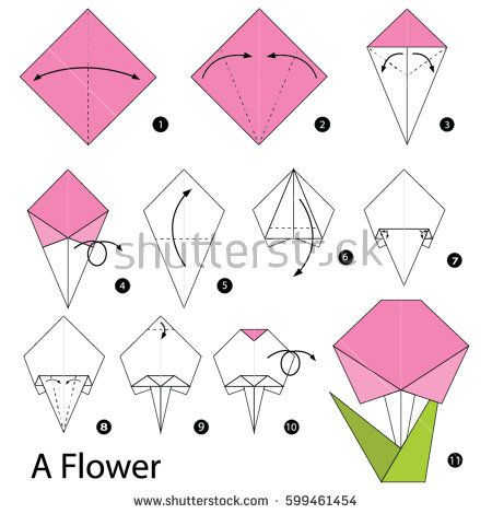 Step by step instructions how to make a origami flower carlos step by step instructions how to make a origami flower mightylinksfo