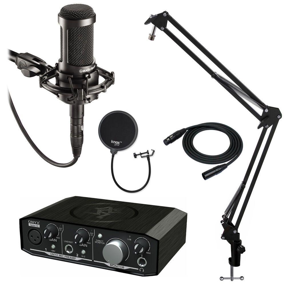 Audio Technica At2035 Mic W Mackie Onyx 1 2 Usb Audio Interface Audio Technica Computer Hardware Usb