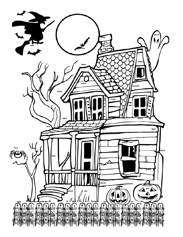 Halloween sight words Black and White   Free halloween ...