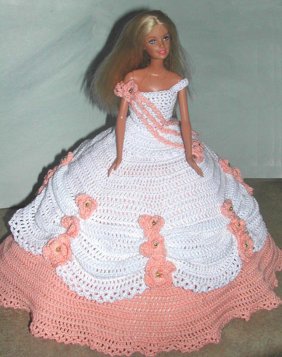 Crochet Fashion Doll Barbie Pattern- #635 COTILLION BALL GOWN #9 ...