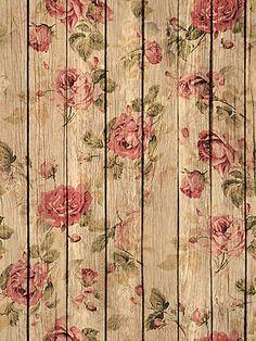 Wood Panel Amp Floral Background Wallpaper Lock Screen