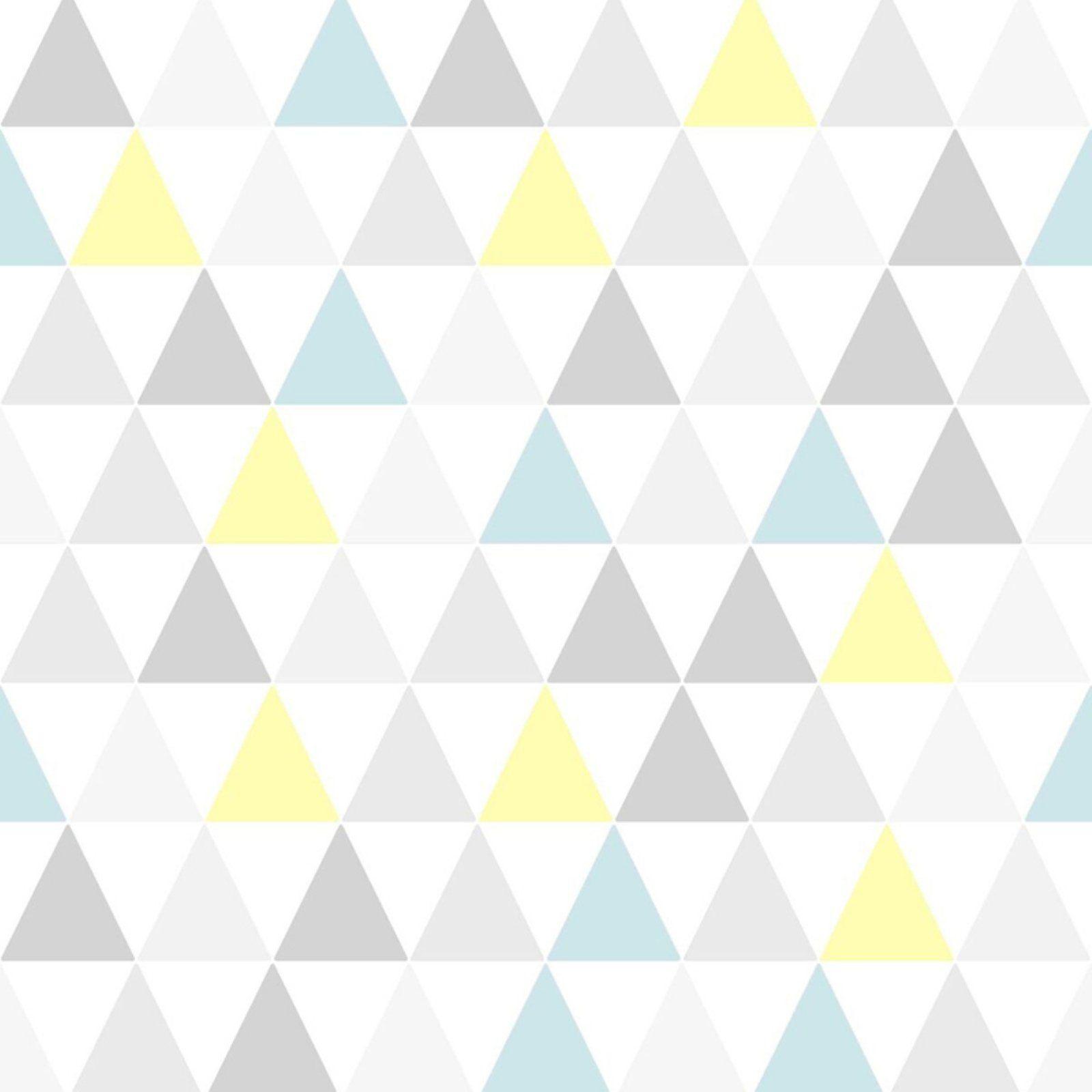 Superfresco Easy Paste the wall Tarek Geometric Yellow//Blue Wallpaper