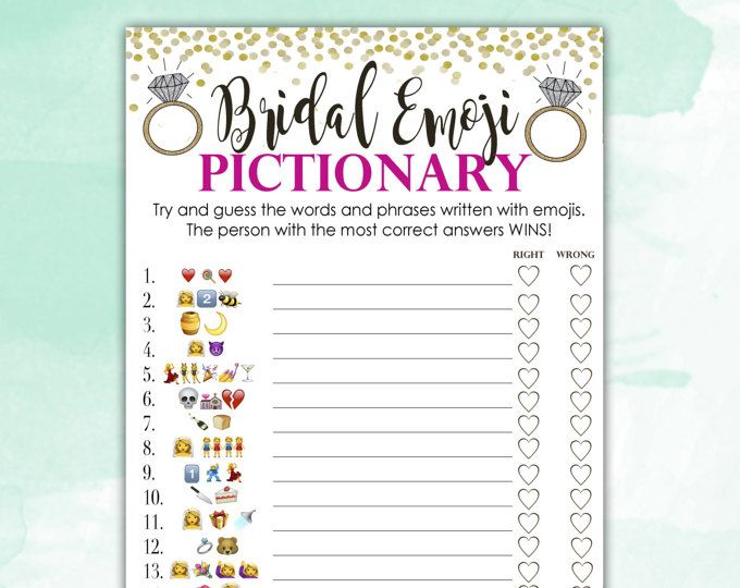 photo about Emoji Bridal Shower Game Free Printable identify Bridal Shower Recreation Pictionary - EMOJI Pictionary - Coral and