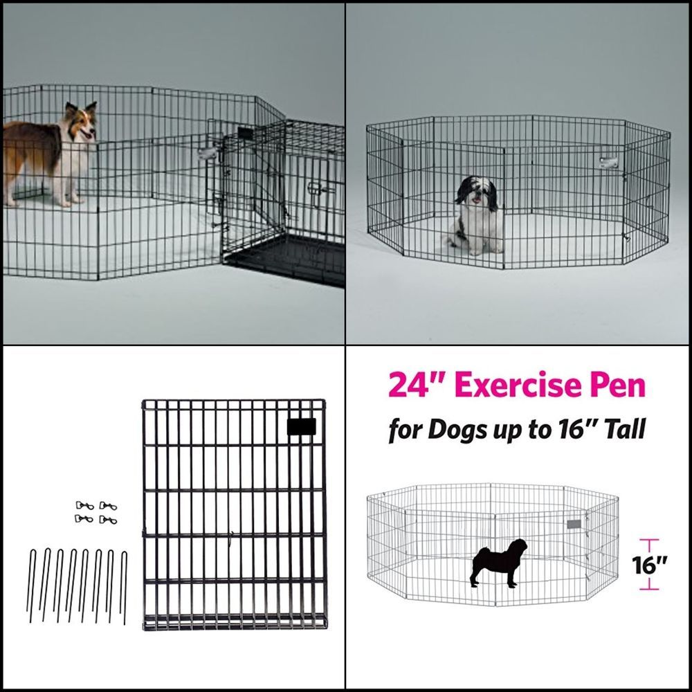 """Portable Folding Exercise Pet Playpen Dog Fences Puppy Gate Home Indoor/Room 24""""   Pet Supplies, Dog Supplies, Fences & Exercise Pens   eBay!"""