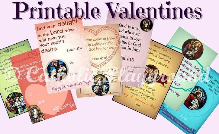 Catholic Valentines Each Downloadable Valentine Displays
