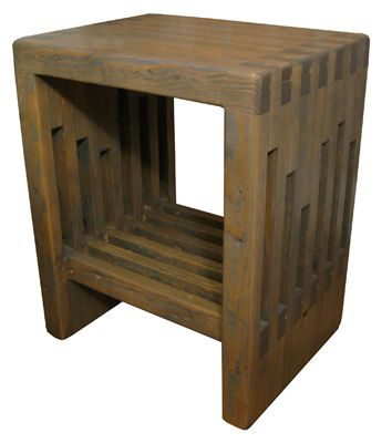 Lilly Bedside Table Made In Brooklyn From Reclaimed Bowling Lanes