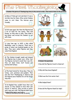 The First Thanksgiving Thanksgiving Worksheets Thanksgiving Lessons Teaching Thanksgiving The first thanksgiving worksheets